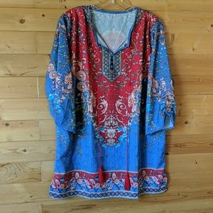 Colorful graphic tunic